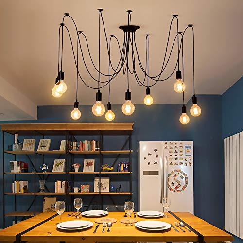 DC Wesley Iluminación Colgante Viento Industrial Retro Estilo candelabro Creativa Bar cafetería Restaurante araña araña de Oficina Tienda de Ropa Larga araña
