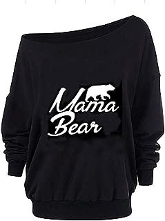 Roshop Women Oversized Off-The-Shoulder Slouchy Sweatshirt with Inside Fleeced