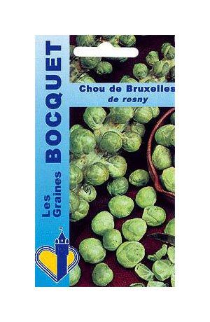 Les Graines Bocquet - Graines De Chou De Bruxelles De Rosny - Graines Potagères À Semer - Sachet De 3Grammes