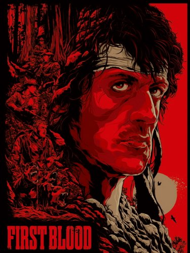 Rambo First Blood Sylvester Stallone Movie 32x24 Print Poster