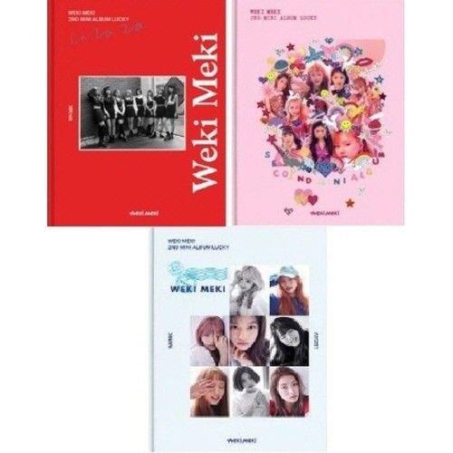 WEKI MEKI - [Lucky] 2nd Mini Album 3 Ver SET CD+Booklet+Polaroid+Card K-POP Sealed
