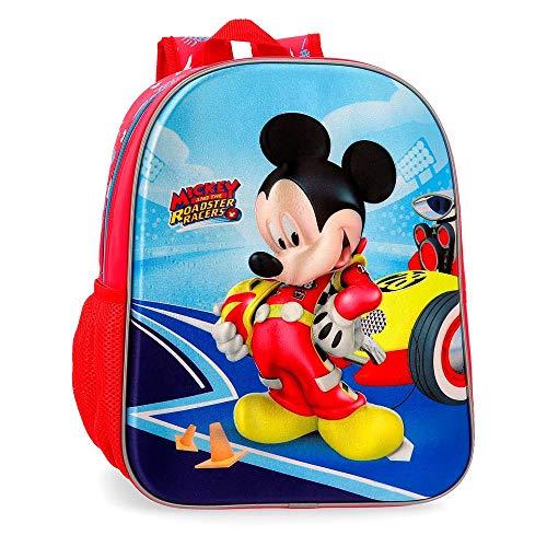 Disney Lets Roll Mickey Zainetto per bambini 33 centimeters 9.8000000000000007 Multicolore (Multicolor)
