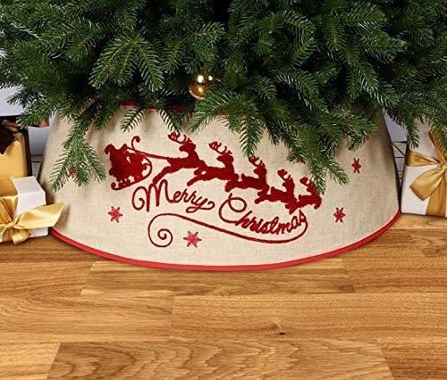NIDAYE Falda de árbol de Navidad de mimbre, falda de árbol de Navidad, cesta de Navidad, decoración de Navidad para fiestas de Navidad (Multicolor B)