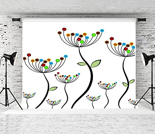 NANITHG Photography Background an Image of an Abstract Flower Field Party Decoration Banner Photo Booth Backdrop for Studio Props 7x5FT