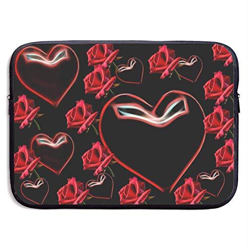wasserdichte Laptoptasche 15 Zoll, Rose Heart Print Business Aktentasche Schutztasche, Computer-Schutzhülle für, 15 Zoll