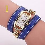 FENKOO Frau beobachtet die Neue Studentenband Candy Farbe Wickel Uhr Mode-Trend Rechteck Frau Armband Tisch