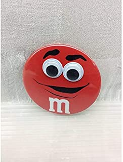 M&M's エムアンドエムズ (レッド) キョロキョロ缶バッジ チョコレート アメリカ雑貨 アメ雑 アメリカン雑貨