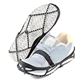 PAWACA Walk Traction Cleats Anti-Slip Ice Snow Grips Gripper Ice Cleats Spikes for Shoes Walking, Jogging, Hiking on Snow and Ice