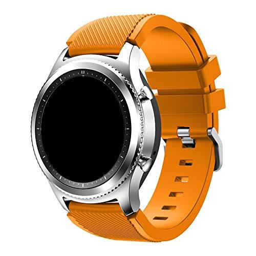 Pulseira Silicone 22mm compatível com Galaxy Watch 3 45mm - Galaxy Watch 46mm - Gear S3 Frontier - Amazfit GTR 47mm - Amazfit GTR 2 - Marca LTIMPORTS (Laranja)
