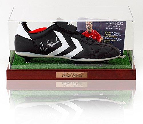 Robbie Fowler Hand signiert Fußballschuh Präsentation