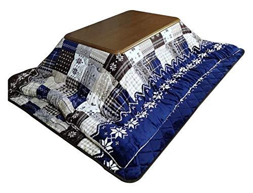 JISHIYU Sala de Estar de Invierno Azul Mesa de calefacción Estufa de Madera Tabla de Calentamiento Estufa Rectangular Mesa de Calentamiento Casual (Tamaño: 80 * 120 cm)