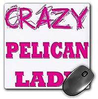 3drose Crazy Pelican Ladyマウスパッド(MP 175223_ 1)