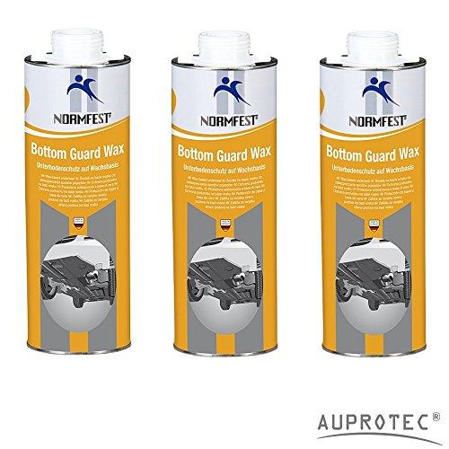Auprotec® Normfest Unterbodenschutz Wachs Steinschlagschutz Bottom Guard Wax 1L (3 Dosen)
