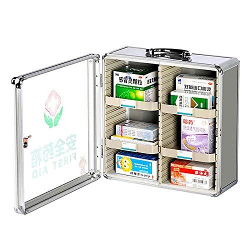 AOSHEN Caja de Medicina montada en Pared Caja médica de Gran Capacidad Caja de Primeros Auxilios Mueble de Almacenamiento Multi-Capa Gabinete de Medicina,S