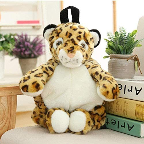 LFSLAS Plush Toys Animals Backpack Kids Kindergarten Boys Girls Plush Backpack Leopard Tiger Panda Polar Bear Purse Purse Books Bag 40Cm Home Decoration