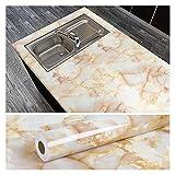 WERTYG Papel de mármol 60cmx10m Granito Auto Adhesivo Fondo de Pantalla renovación Pegatinas Impermeable Decorativo baño Cocina encimera encimera Vinilo Rodillo