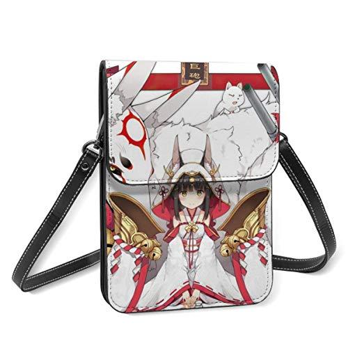Anime Azur Lane, borsa in pelle leggera per cellulare, borsa a tracolla da donna multicolore piccola borsa a tracolla con tracolla regolabile