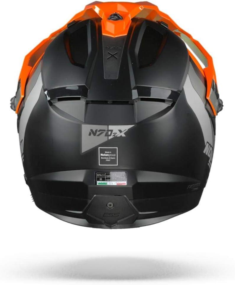 Nolan Casco N70 2 X Decurio N Com Full Face M Flat Black Auto