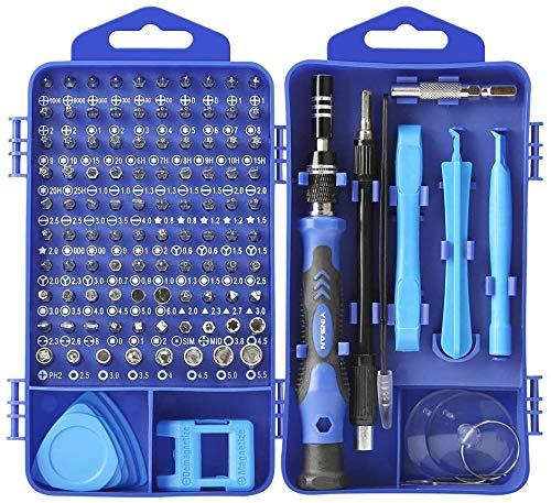 Schraubendreher Set 117 in 1 Schraubendreher Satz Reparatur Werkzeugset, Legierung Mini gehärtet Schraubenzieherset für PC, Brillen, Handy, Laptop