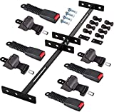10L0L Golf Cart 4 Sets Retractable Belt Bracket Kit with 50in Belts, 4 Passenger (2+2) Front and Rear Golf Cart Belts Kit with Belts Bracket Kits 35' x 6.9' for EZGO TXT,Yamaha, Club Car DS Precedent