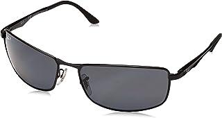Men's Rb3498 Metal Rectangular Sunglasses