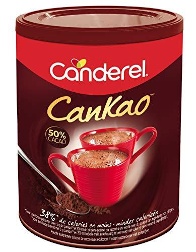 CANDEREL - Cankao – Poudre de Cacao – 38 % de Calories en moins - le Gout du Chocolat Sans Calorie – boîte 250 g