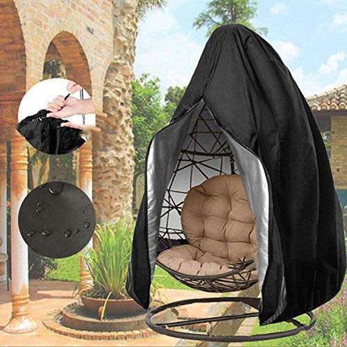 Swing Chair Cover Outdoor Garden Furniture Sofa Hanging Hamac Egg Seat Cover,Noir