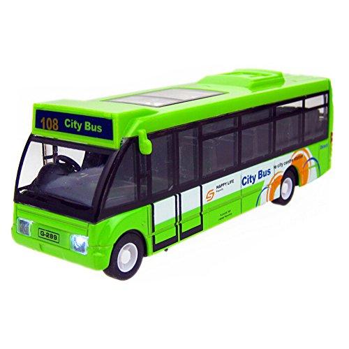 Blancho Allié Mini City Bus Modèle avec Son et lumière, Vert
