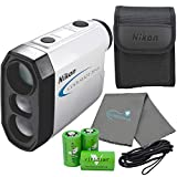 Nikon Coolshot 20 GII Golf Laser Rangefinder Bundle with 3 CR2 Batteries and a Lumintrail Cleaning Cloth