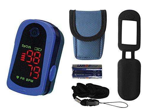 Tiga-Med MD300 C13 - Oxímetro de pulso para dedo (incluye pila y accesorios, homologación CE) ⭐