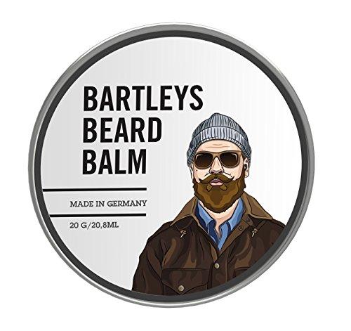 Bartley's Baume à barbe / cire à barbe – Bartleys Premium Baume pour barbe 20 g – Cire naturelle et organique pour une barbe soignée.
