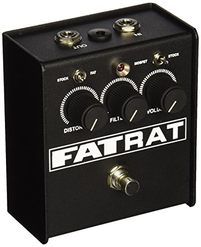 Pro Co Sound FATRAT Distortion Pedal with Selectable MOSFET Clipping and Thick Boost Distortion