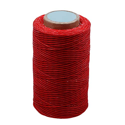 MIUSIE Colorful 284Yards Leather Sewing Waxed Thread-Practical Long Stitching Thread  for Leather Craft DIY/Bookbinding/ Shoe Repairing/Leather Projects