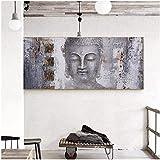 Surfilter Impresión en lienzo Gran tamaño Buda Zen Arte de la pared Imágenes Pinturas en lienzo Cartel de impresión Pintura al óleo para sala de estar Decoración del hogar 60x140cmx1pcs Sin marco