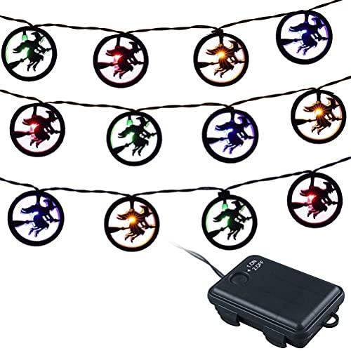 bottl Halloween Ghost Festival Decoratie Lantaarn, LED Halloween String Lights Vleermuis Spider Halloween Lichten…