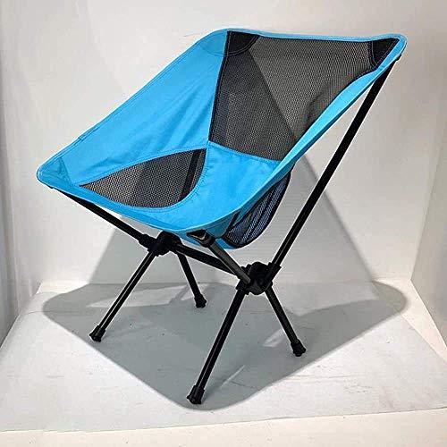 WJXBoos Silla de camping plegable, ultraligera silla de jardín compacta con bolsa para senderismo, picnic, pesca, parque, festival, actividades al aire libre, playa, etc. (Color: azul marino)