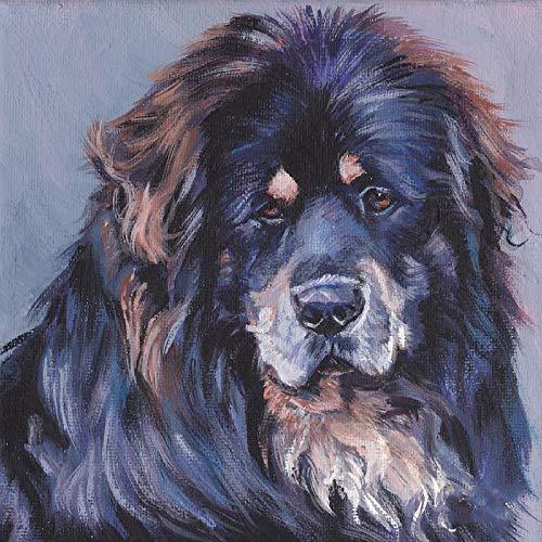 Kits De Pintura Por Números Para Perros Y Mascotas Mastiff - Pintura De Bricolaje En Lienzo Para Adultos Principiantes - 16 X 20 Pulgadas (Sin Marco)