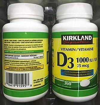 kirkland vitamin d3 1000iu 25mcg