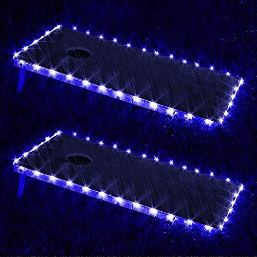 321 Lights Set of 2 Cornhole Board Edge Night Lights Waterproof Lights(Standard Size 4x2),Lasting 100+ Hours on 3 AA Batteries(not Included)
