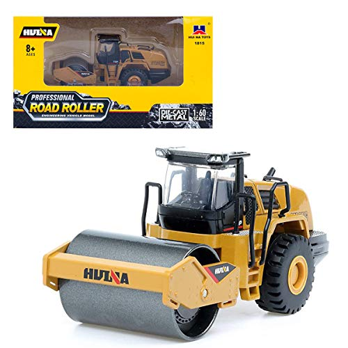 Gemini&Genius 1:60 Scale Diecast Articulated Dump Truck Engineering Vehicle Construction Alloy Model Toys for Kids and Decoration for House (Road Roller)