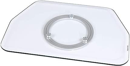 Hama 84026 - Plataforma giratoria para TV, transparente