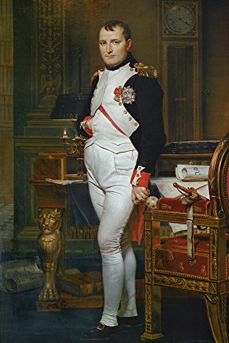 Artland Alte Meister Kunst Wandtattoo Klassizismus Jacques-Louis David Wandbilder Klebefolie Napoleon Bonaparte 60 x 40 cm Kunstdruck Deko Art R0JK