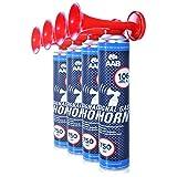 AAB Signal Gas Horn 750ml - Set of 4 - Loud Party Horns, Gas Air Horn, Bull Horns, Long Lasting Hand Held...