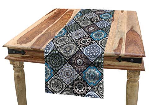 ABAKUHAUS marockansk bordslöpare, antik kulturellt folk, matsal kök rektangulär dekorativ bordslöpare, 40 x 225 cm, flera färger