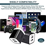 USB Wall Charger, Charger Adapter, Ailkin 2.4Amp Dual Port Foldable Quick Charger Plug Cube Replacement for iPhone 11/X/XR/XS MAS/8, Samsung Galaxy, LG, HTC, Huawei, Moto, Kindle 12 Premium Performance: Dual-USB output with total current 5V/2.1A and input with 100-240V enables you to charge two mobile devices simultaneously at high speed.It can really save your time. Safety assurance: AILKIN'S charger has protection system against over charging, over currents, and over heating. The charger will automatically stop charging when power is full, which can maximumly protect your device. Lightweight:Home charger adapter allows charging at home or in the office via USB cable connection. Simply plug in the USB cable, and plug the adapter into the wall. Compact, lightweight, portable, stylish, easy to store.