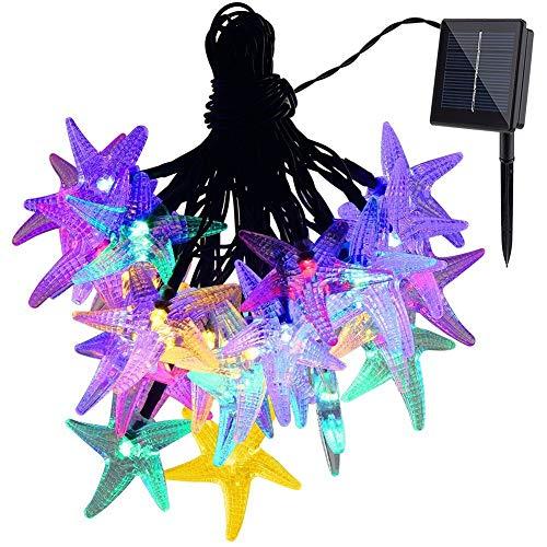 Ff Led String Lights Gdealer Solar Fairy Lights, 30Led 20Ft Starfish Solar Power Fairy Lights, Christmas Decoraton Solar String Lights for Indoor Outdoor Garden Camping Wedding Party Home Multi-Color