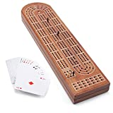 3-Track Cribbage Board Game with Deck Playing Card