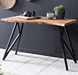Design Konsolentisch 130 x 77 x 48 cm aus Akazie Massivholz Baumkante Holz Anrichte Konsole Klein im...