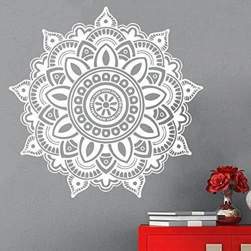 Mandala Pattern Vinile Wall Sticker Yoga Tema Home Decor Yoga Lover Mandala Flower Rimovibile Home Decor Wall Decal A8 42x42cm