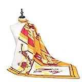 WEJNNI Imitation Silk Scarf Fashion Figure Mirror square130cm twillladies